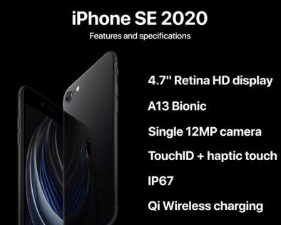 iPhone SE 2020 features