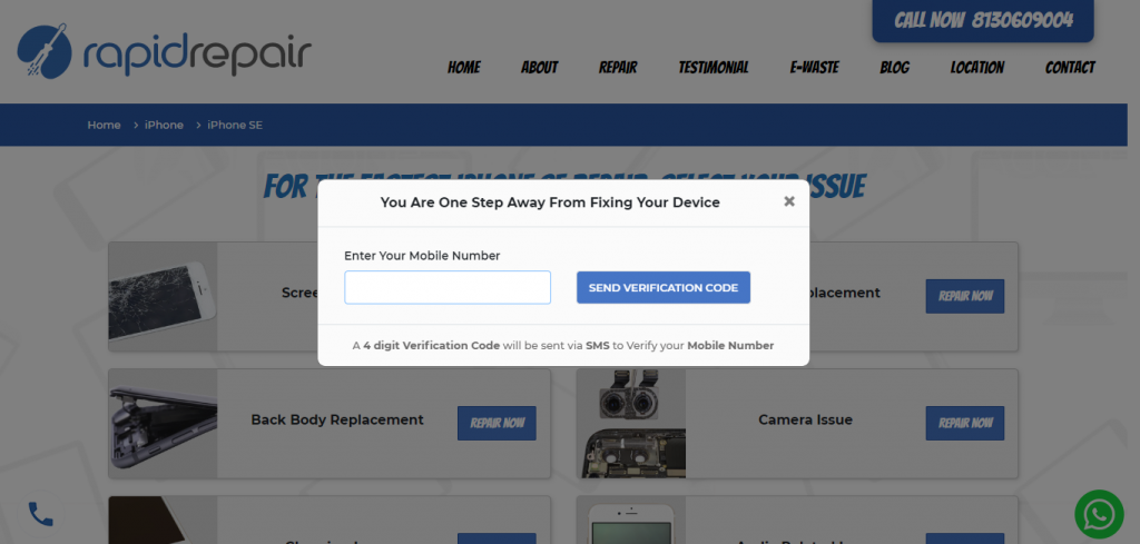 enter your mobile number