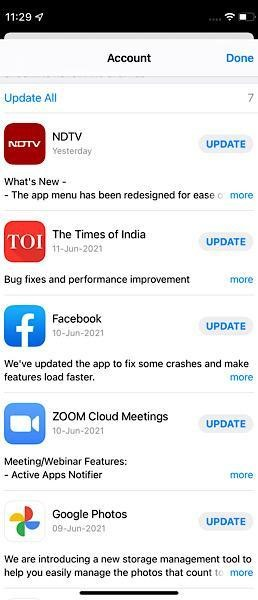 Update All Apps and Software in iphone