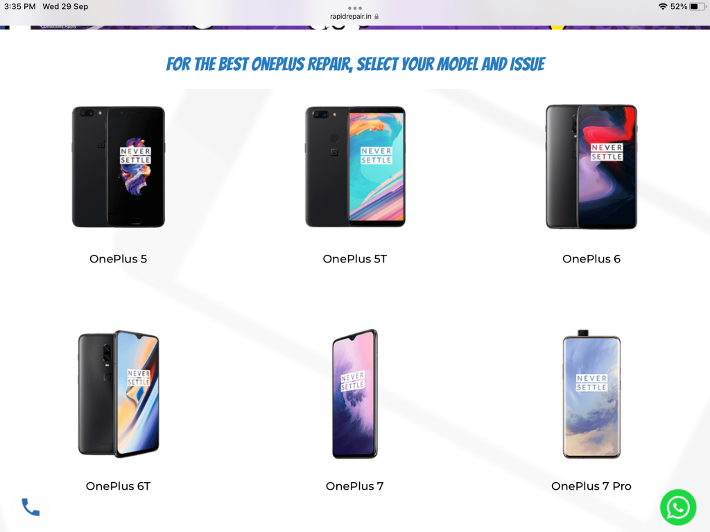 Rapid Repair for oneplus screen replacement cost