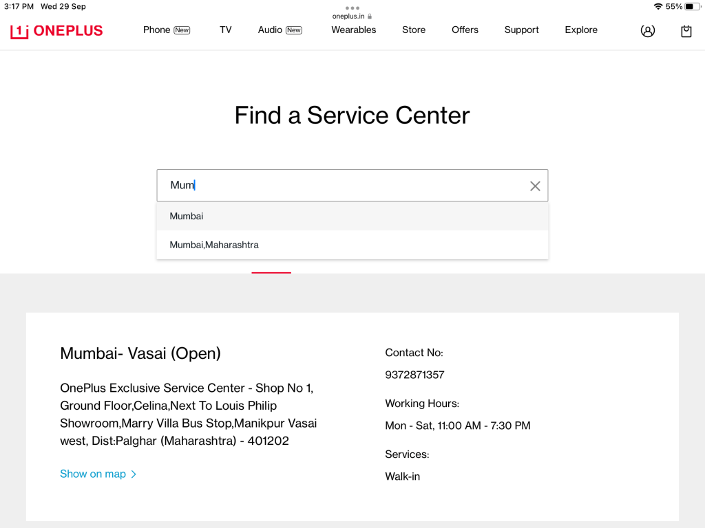 Service Centres for oneplus replacement cost