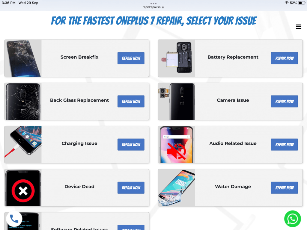 oneplus screen replacement cost check